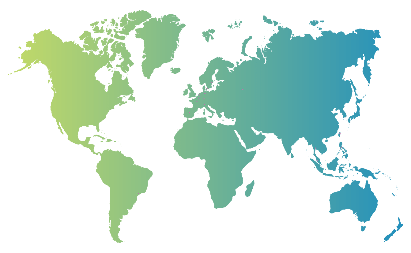 World map with Liveposter office locations