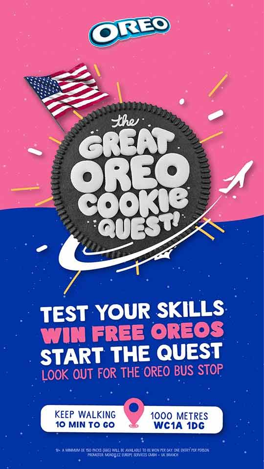 The great oreo cookie quest campaign - location Dynamic